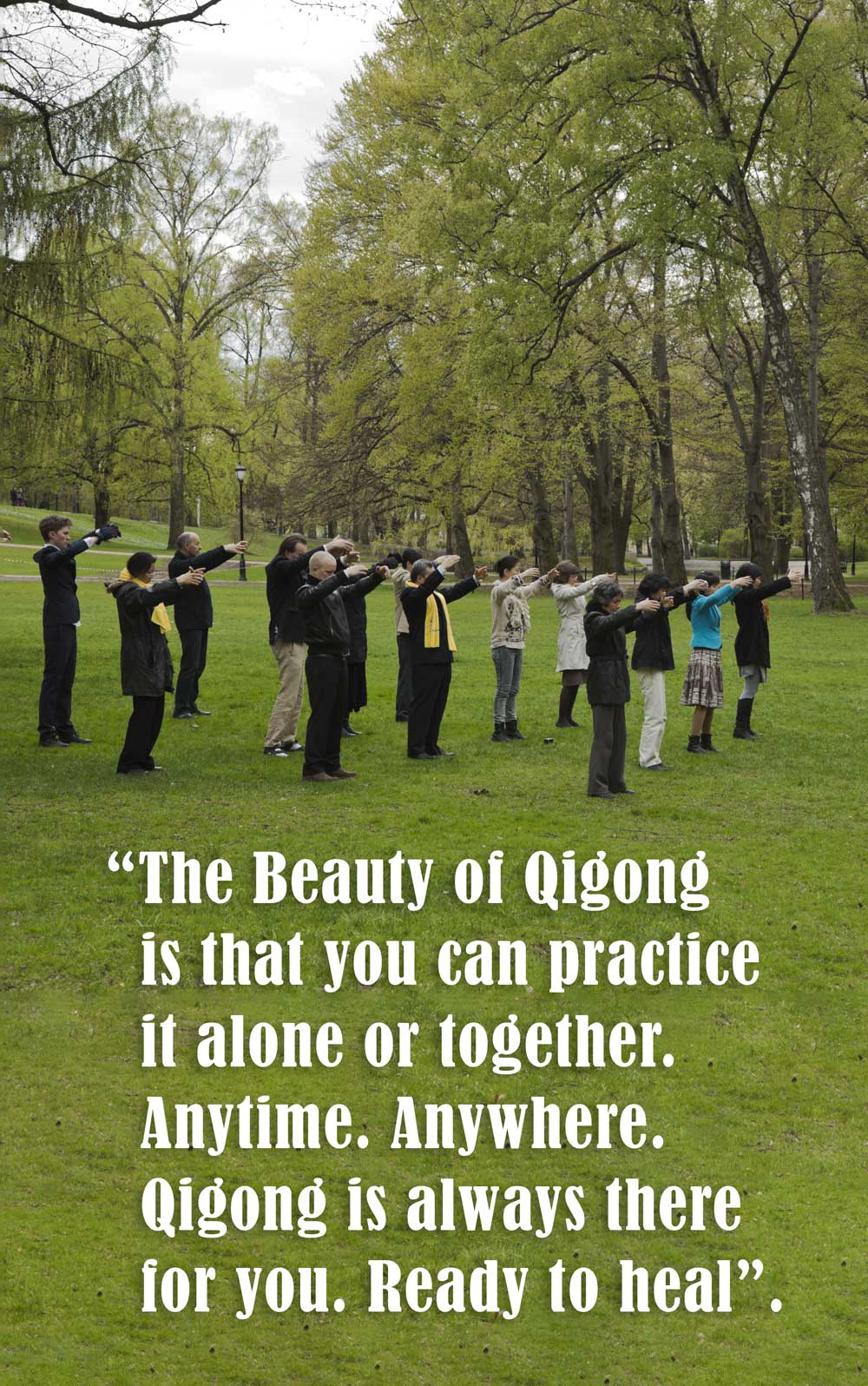 Qigong in the Park with Quote